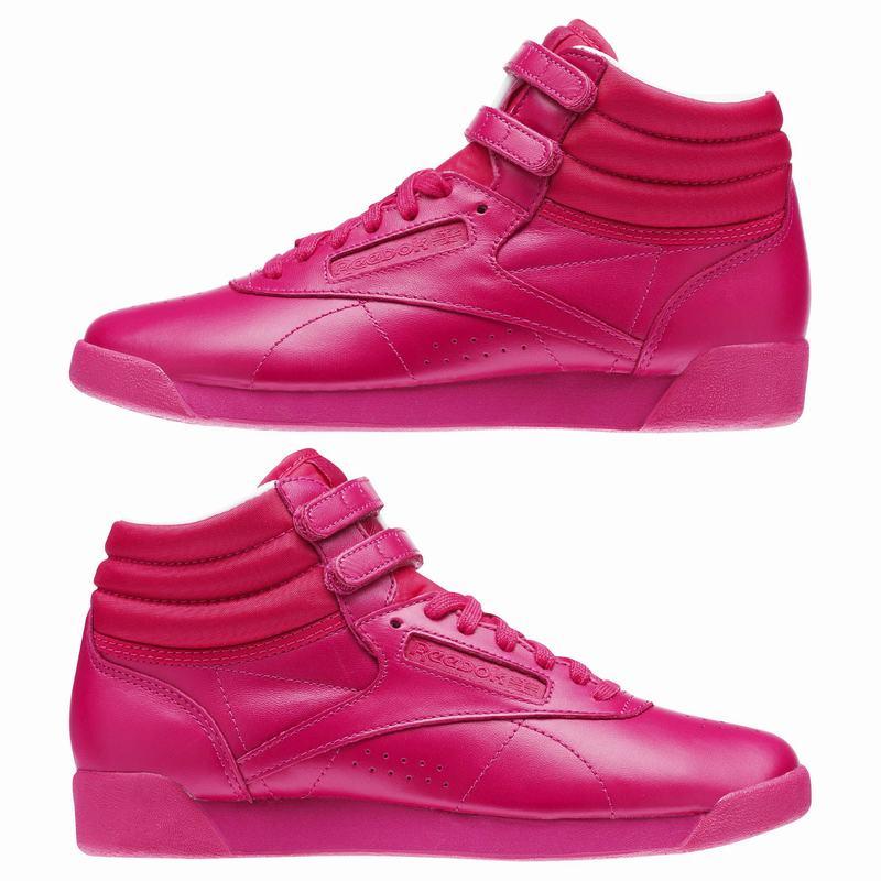 de7a0eb32cc Dámské Tenisky Reebok Freestyle Hi Color Bomb Růžové Bílé (556MPETLH)